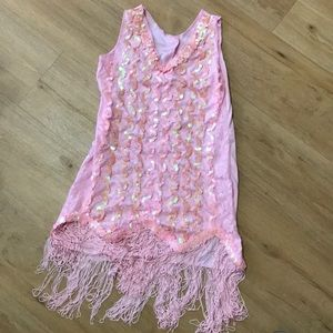 Other - Girls pink flapper dress costume size 4-6x